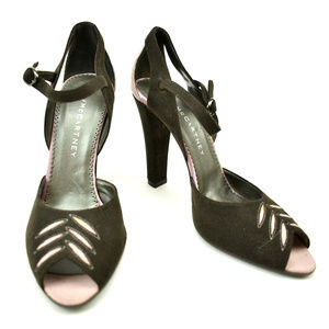 Stella McCartney Brown/Pink Vegan Leather Heels